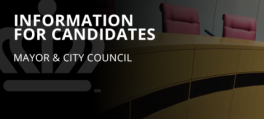 Information for mayor and council candidates